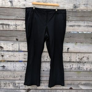 Lane Bryant Black Bootcut Dress Trousers Size 22